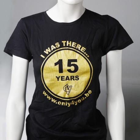 15 years T-shirt noir