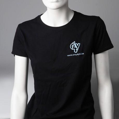 T-shirt noir - logo bleu