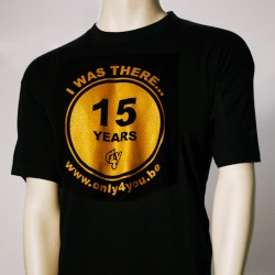 T-shirt noir - logo 15 years